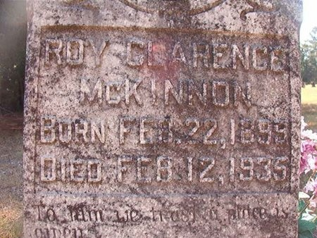 MCKINNON, ROY CLARENCE - Pike County, Arkansas | ROY CLARENCE MCKINNON - Arkansas Gravestone Photos