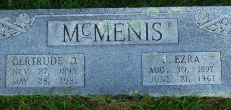MCMENIS, ELIZABETH GERTRUDE - Pike County, Arkansas | ELIZABETH GERTRUDE MCMENIS - Arkansas Gravestone Photos