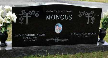 MONCUS, JACKIE SMITHIE ADAMS - Pike County, Arkansas | JACKIE SMITHIE ADAMS MONCUS - Arkansas Gravestone Photos