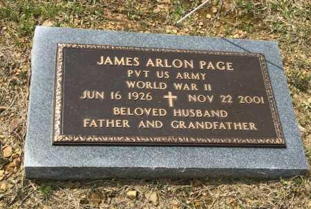PAGE (VETERAN WWII), JAMES ARLON - Pike County, Arkansas | JAMES ARLON PAGE (VETERAN WWII) - Arkansas Gravestone Photos