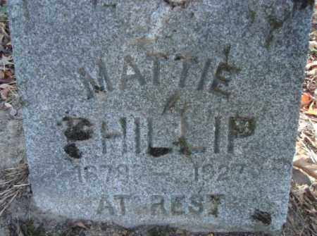 PHILLIP, MATTIE - Pike County, Arkansas | MATTIE PHILLIP - Arkansas Gravestone Photos
