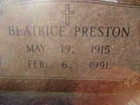 PRESTON, BEATRICE - Pike County, Arkansas   BEATRICE PRESTON - Arkansas Gravestone Photos
