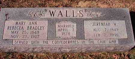 WALLS, MARY ANN REBECCA - Pike County, Arkansas   MARY ANN REBECCA WALLS - Arkansas Gravestone Photos