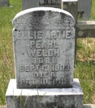 WELCH, ELLIE ARTIE PEARL - Pike County, Arkansas | ELLIE ARTIE PEARL WELCH - Arkansas Gravestone Photos