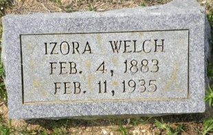 KILLIAN WELCH, IZORA BELL - Pike County, Arkansas | IZORA BELL KILLIAN WELCH - Arkansas Gravestone Photos