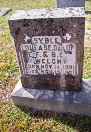 WELCH, SYBLE LOUEASE - Pike County, Arkansas | SYBLE LOUEASE WELCH - Arkansas Gravestone Photos