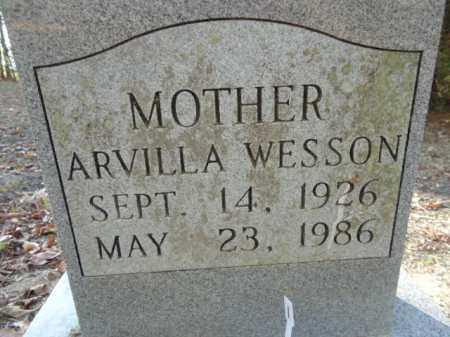 WESSON, ARVILLA - Pike County, Arkansas   ARVILLA WESSON - Arkansas Gravestone Photos