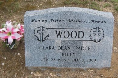 "PADGETT WOOD, CLARA DEAN ""KITTY"" - Pike County, Arkansas | CLARA DEAN ""KITTY"" PADGETT WOOD - Arkansas Gravestone Photos"