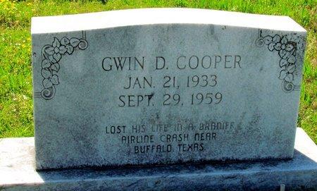 COOPER, GWIN D. - Poinsett County, Arkansas | GWIN D. COOPER - Arkansas Gravestone Photos