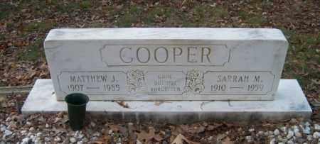 COOPER, MATTHEW J - Poinsett County, Arkansas   MATTHEW J COOPER - Arkansas Gravestone Photos