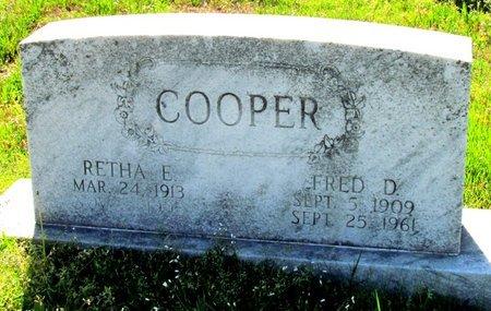 COOPER, FRED D. - Poinsett County, Arkansas | FRED D. COOPER - Arkansas Gravestone Photos