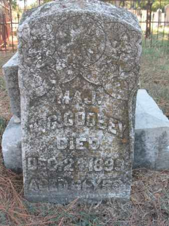 GODSEY, W G, MAJ - Poinsett County, Arkansas   W G, MAJ GODSEY - Arkansas Gravestone Photos
