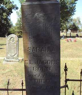 JACOBS, SARAH A. - Poinsett County, Arkansas | SARAH A. JACOBS - Arkansas Gravestone Photos