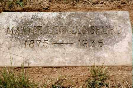 LUNSFORD, MATTIE LOU - Poinsett County, Arkansas | MATTIE LOU LUNSFORD - Arkansas Gravestone Photos
