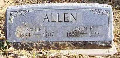 ALLEN, SALLIE E - Polk County, Arkansas   SALLIE E ALLEN - Arkansas Gravestone Photos