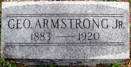 ARMSTRONG, JR, GEORGE - Polk County, Arkansas   GEORGE ARMSTRONG, JR - Arkansas Gravestone Photos