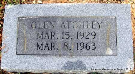 ATCHLEY, OLEN - Polk County, Arkansas | OLEN ATCHLEY - Arkansas Gravestone Photos