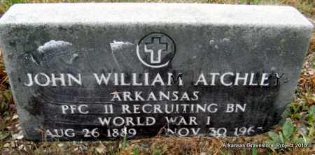 ATCHLEY (VETERAN WWI), JOHN WILLIAM - Polk County, Arkansas   JOHN WILLIAM ATCHLEY (VETERAN WWI) - Arkansas Gravestone Photos