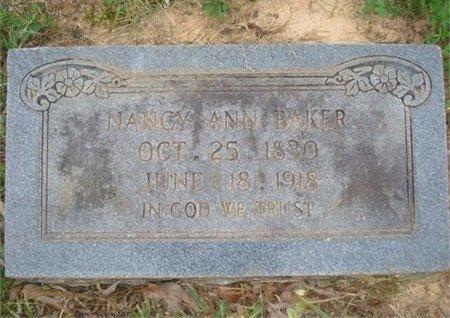 BAKER, NANCY ANN - Polk County, Arkansas | NANCY ANN BAKER - Arkansas Gravestone Photos