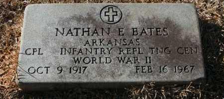BATES (VETERAN WWII), NATHAN E - Polk County, Arkansas | NATHAN E BATES (VETERAN WWII) - Arkansas Gravestone Photos