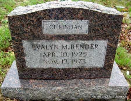 BENDER, EVALYN MONTEEN - Polk County, Arkansas | EVALYN MONTEEN BENDER - Arkansas Gravestone Photos