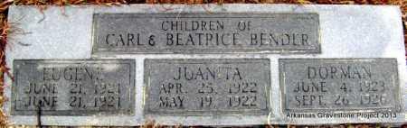 BENDER, JUANITA - Polk County, Arkansas | JUANITA BENDER - Arkansas Gravestone Photos