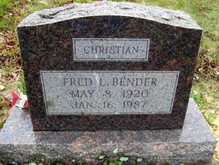 BENDER, FRED LINEUS - Polk County, Arkansas | FRED LINEUS BENDER - Arkansas Gravestone Photos