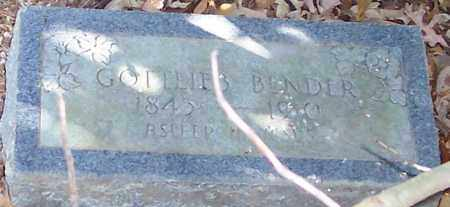 BENDER, GOTTLIEB - Polk County, Arkansas | GOTTLIEB BENDER - Arkansas Gravestone Photos