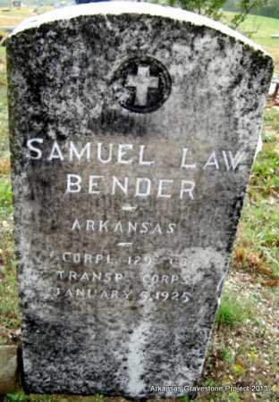 BENDER (VETERAN WWI), SAMUEL LAW - Polk County, Arkansas | SAMUEL LAW BENDER (VETERAN WWI) - Arkansas Gravestone Photos