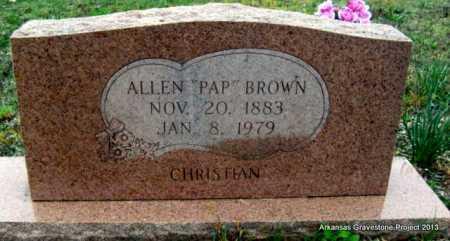 "BROWN, ALLEN ""PAP"" GOLDEN - Polk County, Arkansas   ALLEN ""PAP"" GOLDEN BROWN - Arkansas Gravestone Photos"