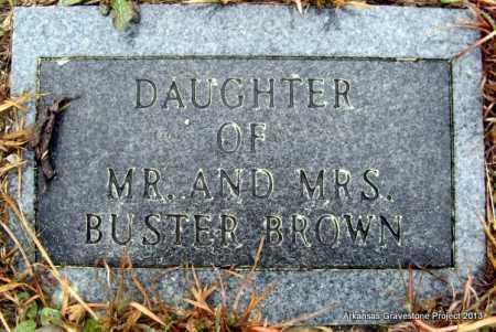 BROWN, DAUGHTER - Polk County, Arkansas | DAUGHTER BROWN - Arkansas Gravestone Photos