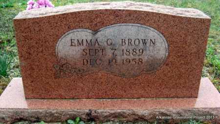 WHITE BROWN, EMMA G - Polk County, Arkansas | EMMA G WHITE BROWN - Arkansas Gravestone Photos