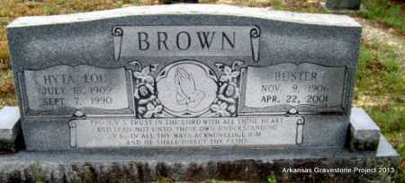 DANIELS BROWN, HYTA LOU - Polk County, Arkansas | HYTA LOU DANIELS BROWN - Arkansas Gravestone Photos