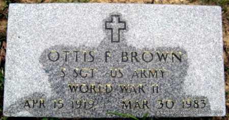 BROWN (VETERAN WWII), OTTIS F - Polk County, Arkansas   OTTIS F BROWN (VETERAN WWII) - Arkansas Gravestone Photos