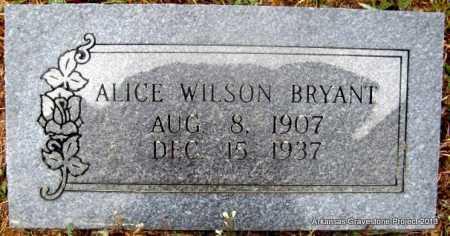 WILSON BRYANT, ALICE - Polk County, Arkansas | ALICE WILSON BRYANT - Arkansas Gravestone Photos