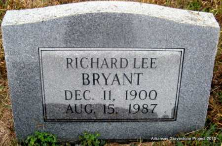 BRYANT, RICHARD LEE - Polk County, Arkansas   RICHARD LEE BRYANT - Arkansas Gravestone Photos