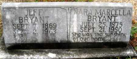 CHRISTOPHER BRYANT, NARA MARCELLA - Polk County, Arkansas   NARA MARCELLA CHRISTOPHER BRYANT - Arkansas Gravestone Photos