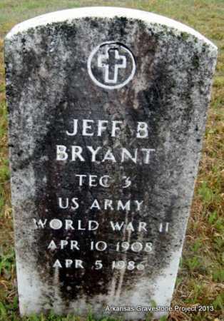 BRYANT (VETERAN WWII), JEFF B - Polk County, Arkansas   JEFF B BRYANT (VETERAN WWII) - Arkansas Gravestone Photos
