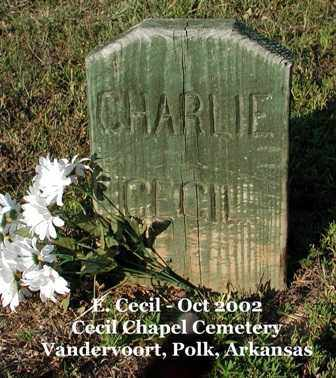 CECIL, CHARLIE - Polk County, Arkansas   CHARLIE CECIL - Arkansas Gravestone Photos
