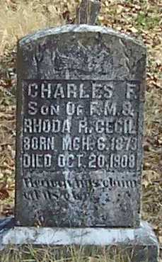CECIL, CHARLES F - Polk County, Arkansas | CHARLES F CECIL - Arkansas Gravestone Photos