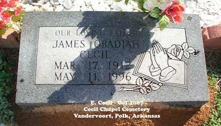 CECIL, JAMES OBADIAH - Polk County, Arkansas | JAMES OBADIAH CECIL - Arkansas Gravestone Photos