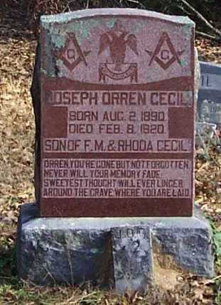 CECIL, JOSEPH ORREN - Polk County, Arkansas | JOSEPH ORREN CECIL - Arkansas Gravestone Photos