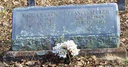 CECIL, FRANCIS MARION - Polk County, Arkansas | FRANCIS MARION CECIL - Arkansas Gravestone Photos