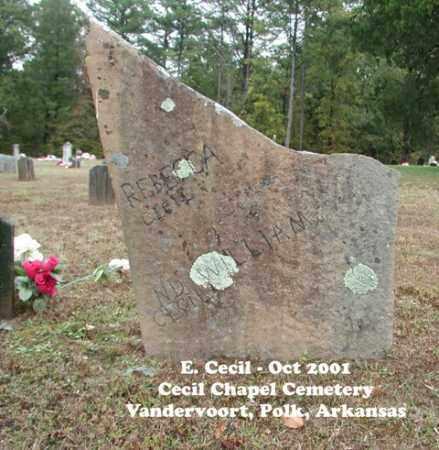 CECIL, REBECCA - Polk County, Arkansas   REBECCA CECIL - Arkansas Gravestone Photos