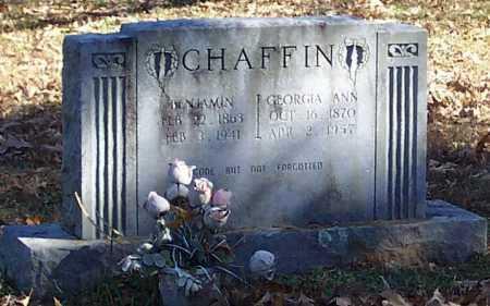 CHAFFIN, GEORGIA ANN - Polk County, Arkansas | GEORGIA ANN CHAFFIN - Arkansas Gravestone Photos