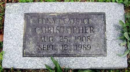 CHRISTOPHER, EDNA BEATRICE - Polk County, Arkansas | EDNA BEATRICE CHRISTOPHER - Arkansas Gravestone Photos