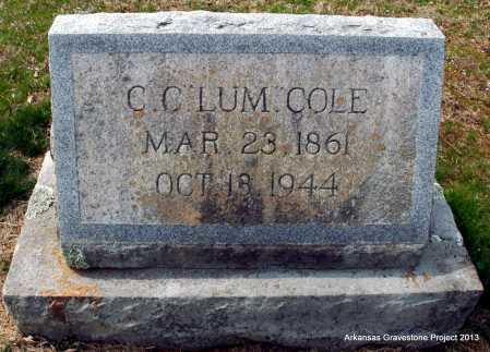 "COLE, CHRISTOPHER C ""LUM"" - Polk County, Arkansas | CHRISTOPHER C ""LUM"" COLE - Arkansas Gravestone Photos"