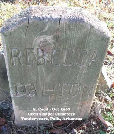 DALTON, REBECCA ANNA - Polk County, Arkansas   REBECCA ANNA DALTON - Arkansas Gravestone Photos