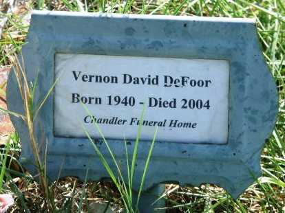 DEFOOR, VERNON DAVID - Polk County, Arkansas | VERNON DAVID DEFOOR - Arkansas Gravestone Photos