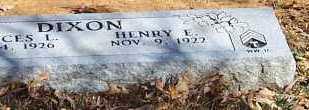 DIXON, HENRY E - Polk County, Arkansas | HENRY E DIXON - Arkansas Gravestone Photos